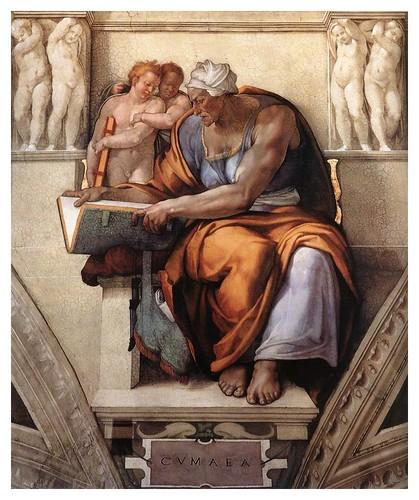 006-Sibila de Cumas pintada por Miguel Angel en la Capilla Sixtina