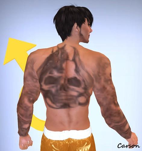 v3 Tattoo - Dragon and Skull Tattoo