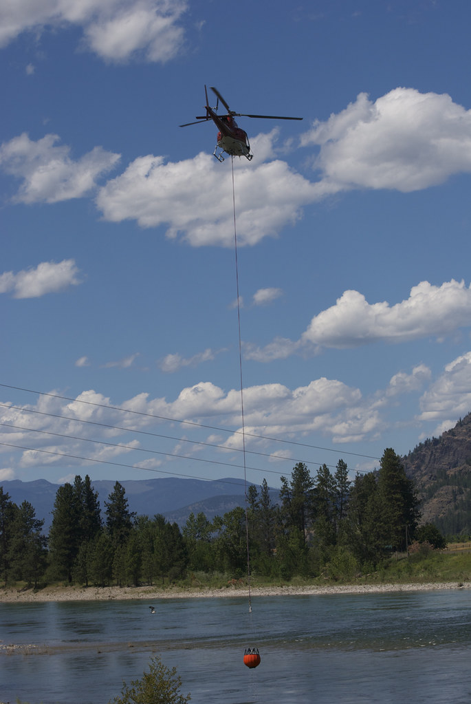 Helicopter water bucket