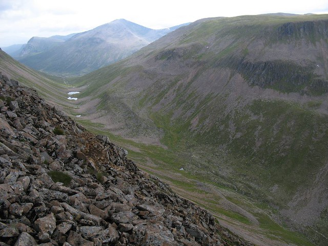 Lairig Ghru looking south to Pools of Dee