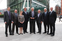 Guests at the opening included Lord Heseltine ...