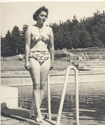 1960s Bikini Woman by Pool