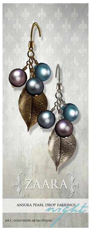{Zaara} Ansuka pearl earrings *night*