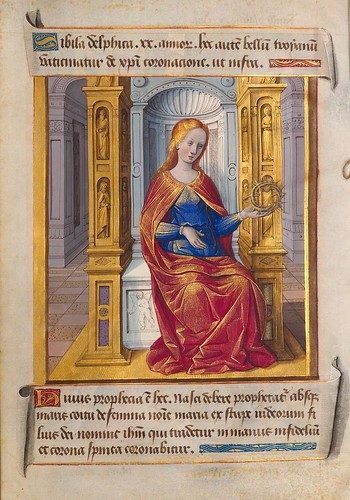 002-Sibila Delfica-Sibylla Prophetae et de Cristo Salvatore vaticinantes-1490- BSB Cod. icon. 414-Münchener DigitalisierungsZentrum