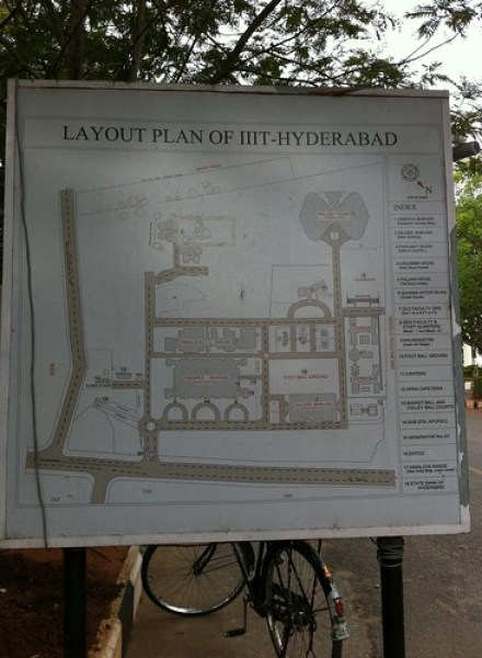 IIIT Hyderabad Map by Mankoff Dey