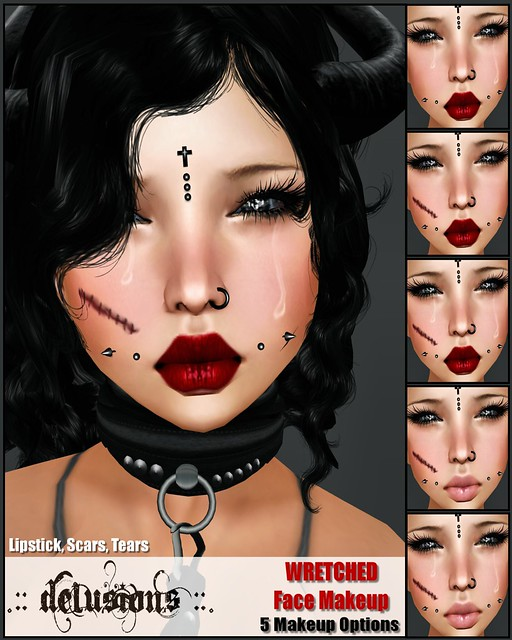 .:: Delusions ::. Wretched Face Makeup