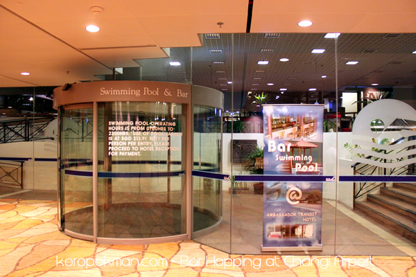 Changi Airport - Swimming Pool and Bar
