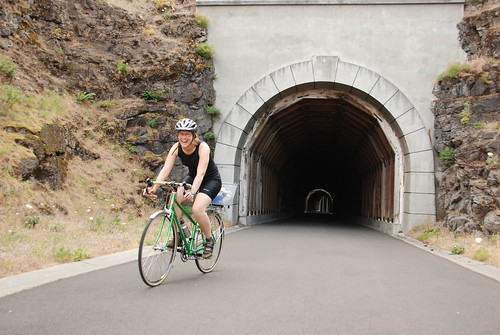cycling part of the historic Columbia River Highway