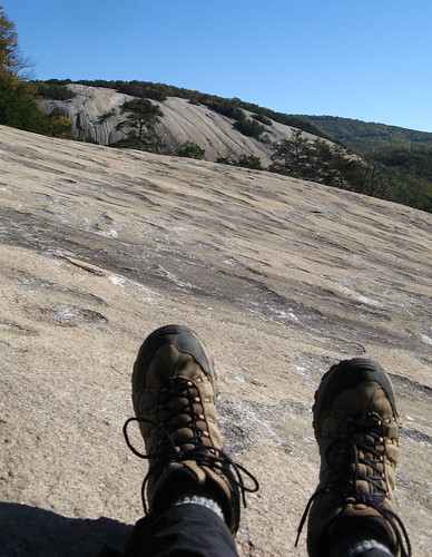 Hiking boots at Stone Mountain