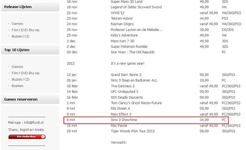 Another Dutch Retailer list Showtime and More!