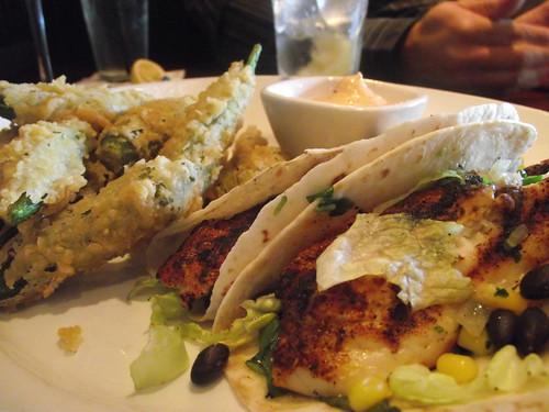 fish tacos & fried okra @ marlow's tavern