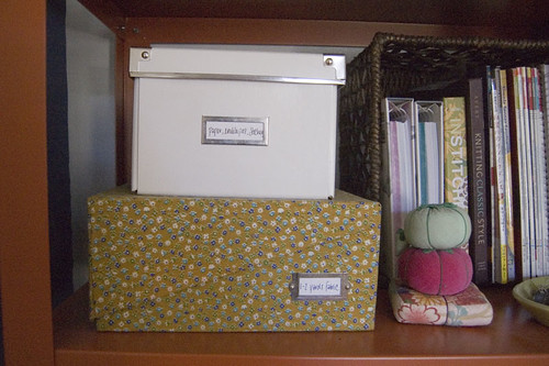 an organized craft room