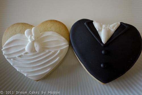 Wedding Bride & Groom Cookies