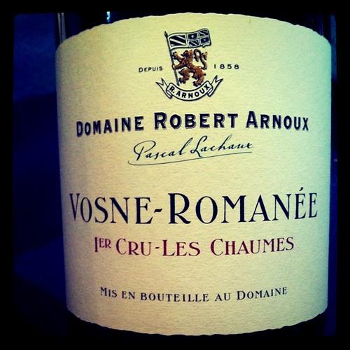 Robert Arnoux Vosne-Romanee Les Chaumes 2001