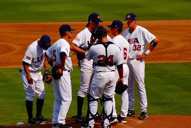 baseball: team usa vs. japan