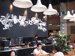 Wall Mural, Toby's Estate Coffee Singapore, 8 Rodyk Street