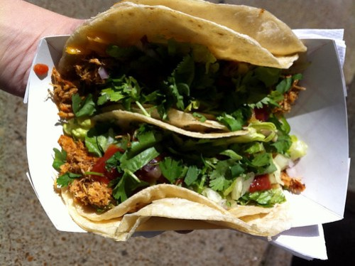 Chicken tacos from the Fuel Food Truck, Memphis, Tenn.