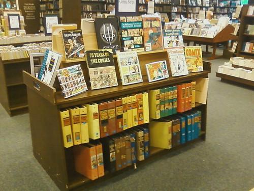 Comic book display at Barnes and Noble in Paramus, NJ