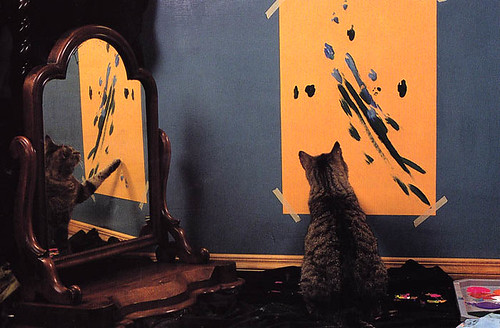 Pepper painting his self-portrait