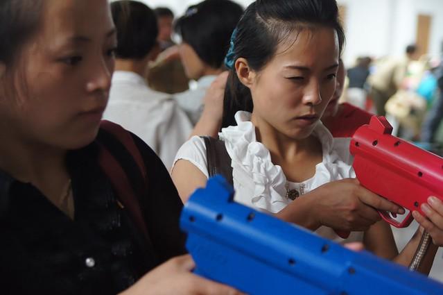 North Korea Fun Fair Game Arcade