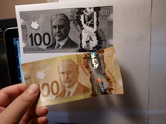 "canada polymer $100 – money ""laundering"" test – after wash and dry"
