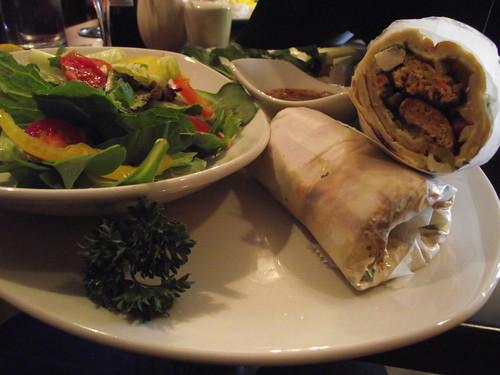chicken koobideh wrap and salad @ sufi's