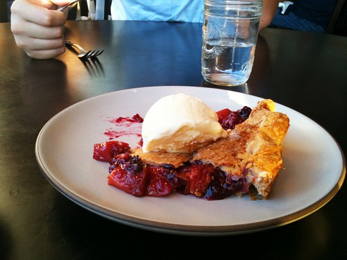 Nectarine & Berry Pie