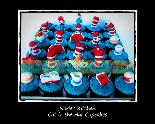 Norie's Kitchen - Cat in the Hat Cupcakes