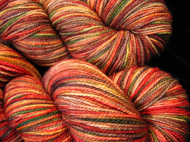 Falling Leaves - Tiger Twist Kettle Dyed Sock Yarn