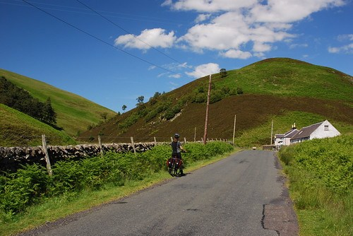 Heading up Glentress, the Moorfoot Hills