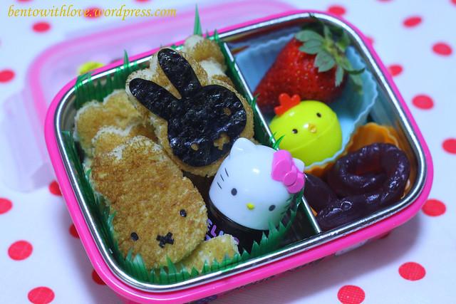 Miffy and Hello Kitty Bento