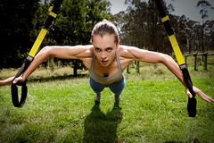 Gym training outdoors