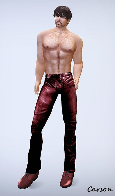 XTC Mens' Lambskin Red Leather Pants  BLFH