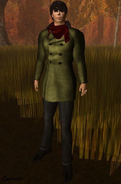 Ruca Tease Fashions - Green Men's Trench Coat