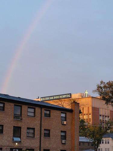 Rainbow over the hospital