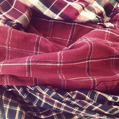Flannel, unfolded