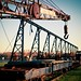 This crane helped build the Brooklyn bridge