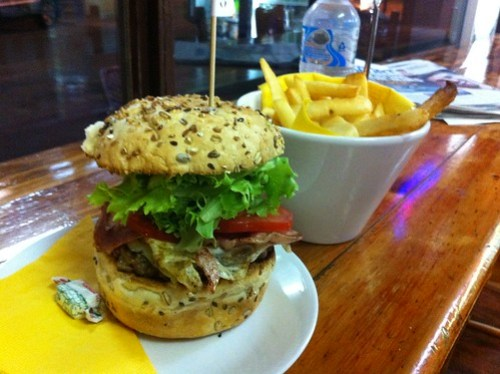 king pin& chips - Bilby's Chargrilled Burgers