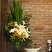 Flower Arrangement in the buffet table