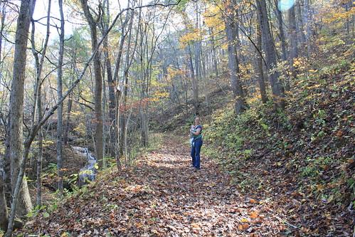 Falls Ridge - October 2011 - Vicky and Sagan on Trail