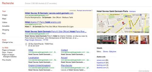Google met en valeur la géolocalisation pour les hôtels