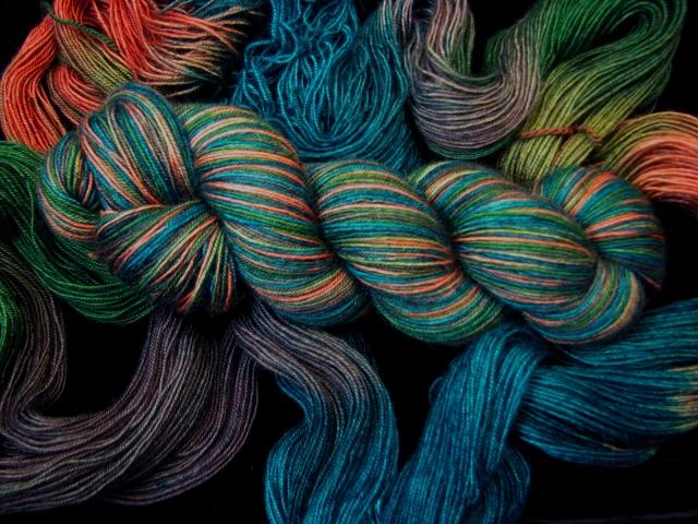 Mallard - Bengal Twist Hand Dyed Variegated Sock Yarn