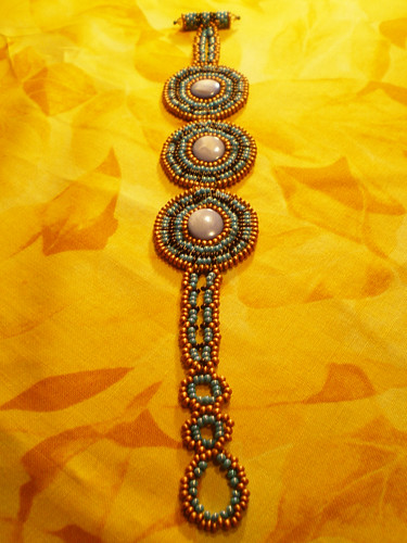 Hopi Inspired Circular Square Stitch Bracelet