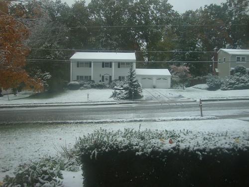 Snow!  In October!!