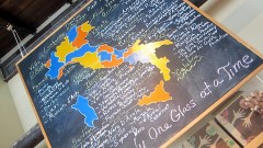 wine map at toscano & sons