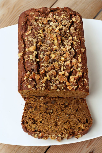 Gluten-Free Pumpkin Spice Bread with Crystallized Ginger and Walnuts