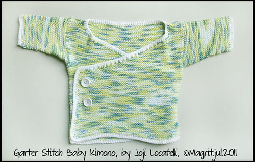 garter stitch baby kimono 1