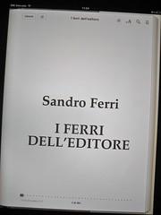 Sandro Ferri, I ferri dell'editore, e/o 2011. Grafica di Emanuele Ragnisco. Frontespizio (part.), 1