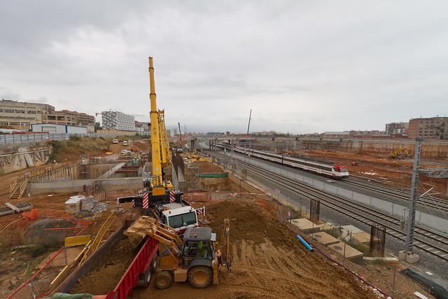 Zona de las obras de la línea 9 del Metro - Norte - 03-11-11