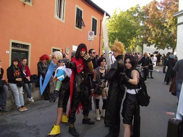 Tidus, Vincent, Yuffie, Cloud, Tifa cosplay